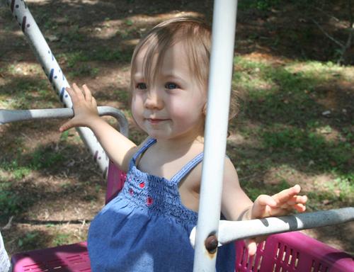 Happy Swinging Girl